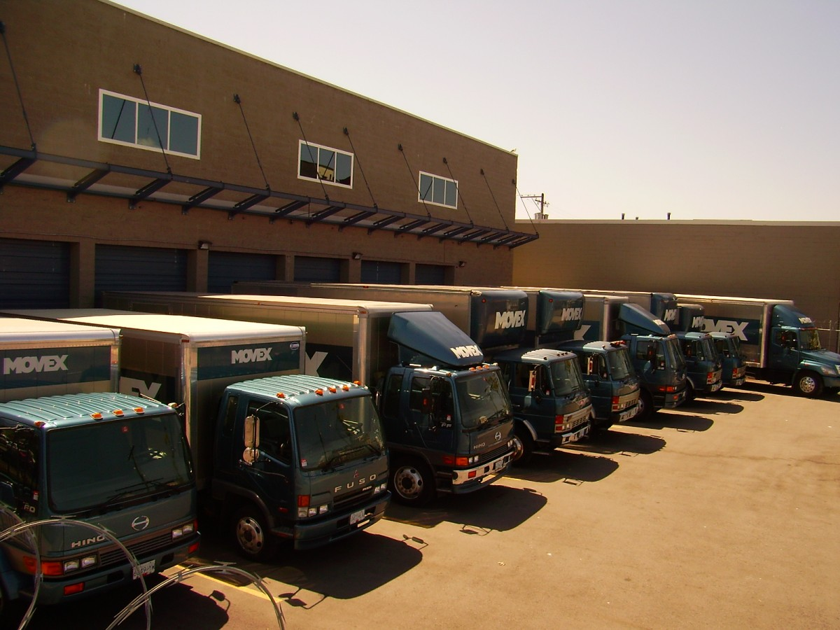 fleet of fully equipped trucks